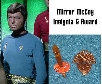 Star Trek Original Series Mirror Uniform Awards Dr McCoy Set