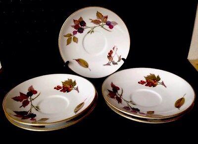 Evesham saucer By Royal Worcester Fine Porcelain Royal Worcester Fine Porcelain