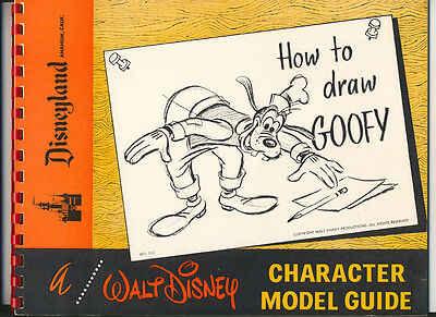 How To Draw Goofy ~ Walt Disney Character Model Guide 1960's 2nd Edition