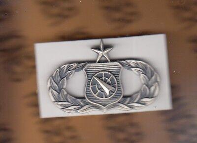 USAF AIR FORCE Senior Weapons Director brushed Qualification award badge
