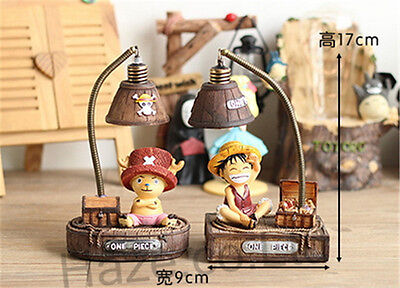 Anime One Piece Figure LED Lamp Night Light Reading Lamp