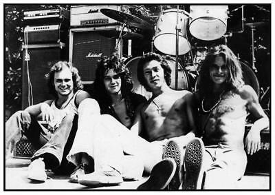 Van Halen *LARGE POSTER* Eddie David Lee Roth LIVE CONCERT - AMAZING EARLY PIC