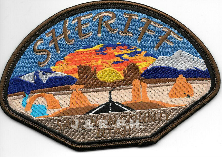"San Juan County Sheriff, UT (5.25"" x 3.5"") shoulder police patch (fire)"