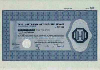 Paul Hartmann 2000 Heidenheim Brenz Düren Wermelskirchen Achern Brück Stückaktie