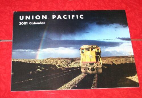 2001 UNION PACIFIC RAILROAD UPRR WALL CALENDAR