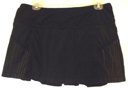 Lululemon Charcoal Gray Run: Reflection Pleated Skort Skirt 8