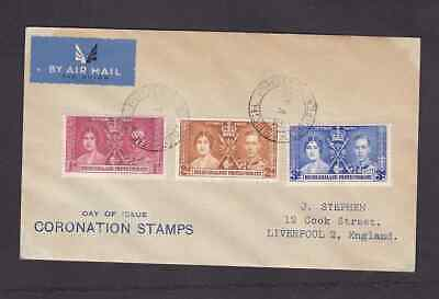 Bechuanaland Protectorate 1937 FDC 1st day cover to England KGVI Coronation  #1