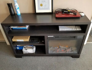 Entertainment unit with electric fireplace for just $300