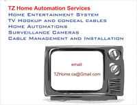Home Entertainment System - TV Hookup - Cables Wires