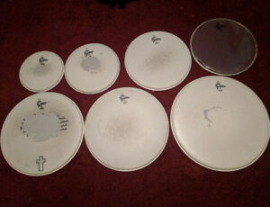 Gretsch Remo drum skins (Used)