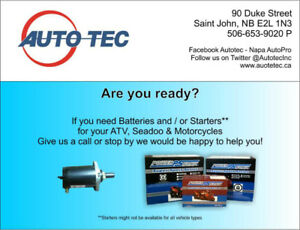 Let us help you with your Starter & Batteries for your Seadoo