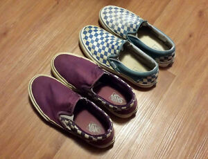 2 Pairs of Vans Men's Shoes Size 8.5 and Size 9