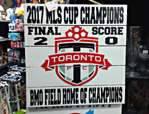 TORONTO FC 2017 MLS CUP CHAMPIONS AT BMO FIELD WOOD CRATE SIGN
