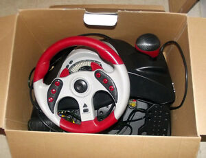 Racing Wheel and Pedals for PS2, Xbox, PS1, GameCube