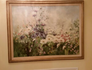 Large Floral oil painting, Thomas Pell