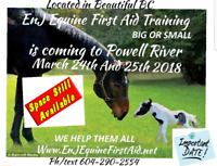 Emergency Equine First Aid Training March 24/25 2018 Powell Rive