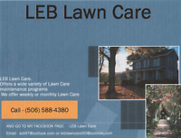 "Hello"" and welcome LEB Lawn Care"
