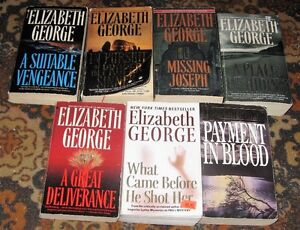 Lot of  Elizabeth George books $5