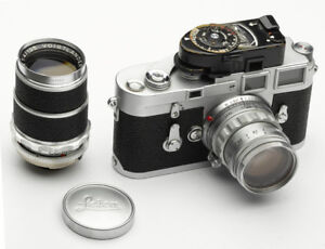 Leica M3 with case and lenses