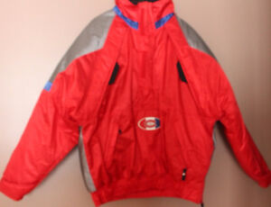 STARTER NHL LICENSED MONTREAL CANADIANS HALF ZIP JACKET