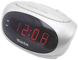 Low Cost .6Led Alarm Clock,No 70044B,  Westclox