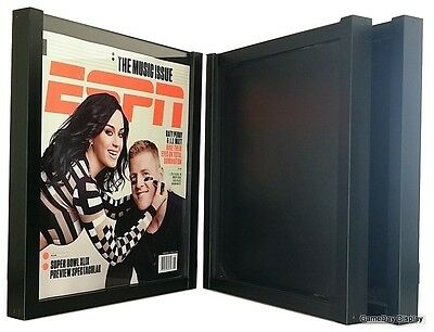 Magazine Display Frame Case Black Shadow Box Espn Rolling Stone Lot Of 3 A