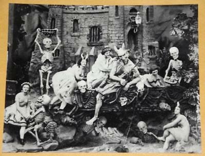 LES DIABLERIES Devil Skull Vintage Photo Old WEIRD Creepy Horror 249