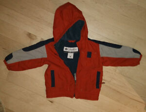 Columbia fleece lined spring coat, size 2T, excellent, clean