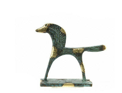 Horse greek bronze on base greece antique BDK179