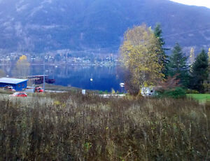 Building lot for sale - view of Kootenay Lake and bridge