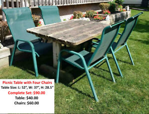 Outdoor Table & Chairs For Sale