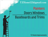 Doors Windows Baseboards and Trim Install & Painting
