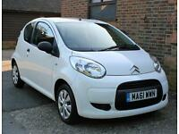 2011/61 CITROEN C1 .0 VTR. WHITE 49000 MILES SERVICE HISTORY. £20 ROAD TAX