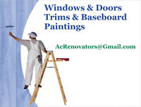 Windows & Doors - Trims & Baseboards Repairs & Painting