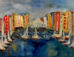 Bay Front, oil painting on canvas