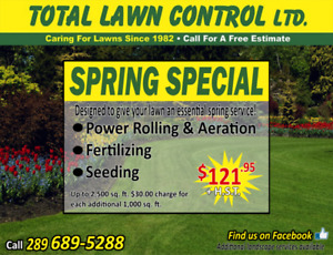 Lawn Care Spring Special