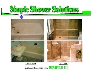 ON SALE - BATHTUB TO SHOWER CONVERSION PANS - READY TO TILE