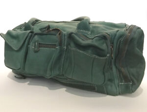 Vintage Green Calfskin Leather Handbag