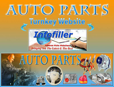 Auto Parts Self Updating Turnkey Website Business Adsense Amazon Clickbank More