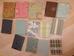14 small canvases with fabric (for display) Kitchener / Waterloo Kitchener Area image 1