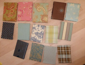 14 small canvases with fabric (for display) $10, 13 larger $ 10