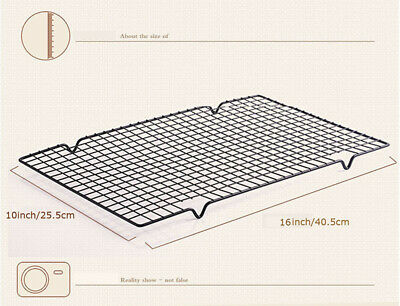 """Baking Cooling Rack Nonstick Wire Grid Sheet Pan Cookie Oven Kitchen16""""x10"""" 2pcs"""