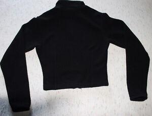 Mondor fleece figure skating warm-up jacket - Black Kitchener / Waterloo Kitchener Area image 2