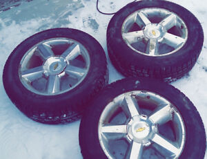 3 Winter Tires On 20 Inch Rims.