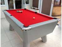 SUPREME WINNER POOL TABLE 6X3 IN SILVER (NEW)