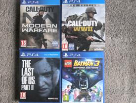 PS4 Call of Duty Modern Warfare WW2 Last Of Us 2 Lego Batman 3 Games