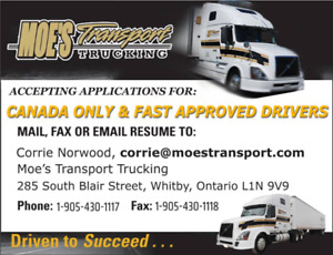 Canada Only and Fast Approved Driver