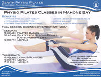 Physio Pilates Fall Classes start on the 12th Sept. Mahone Bay
