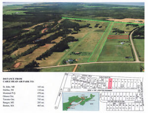 Exclusive to Pilots,  Air-Oriented Lot, Cable Head Airpark, PEI