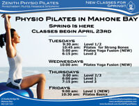 Pilates Classes in Mahone Bay - Spring session starts Apr 23rd